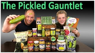 Pickled Gauntlet (Carolina Reaper pickles, pigs feet, kraut shots, bandages) : Crude Brothers