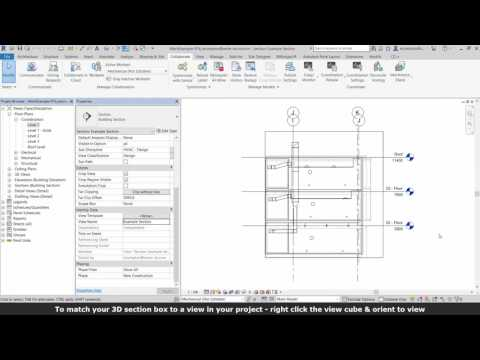 Revit Quick Section Box & Orient to View in 3D