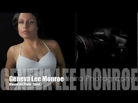 Las Vegas Model, Geneve Lee Monroe - Moonlight Photo Shoot Video