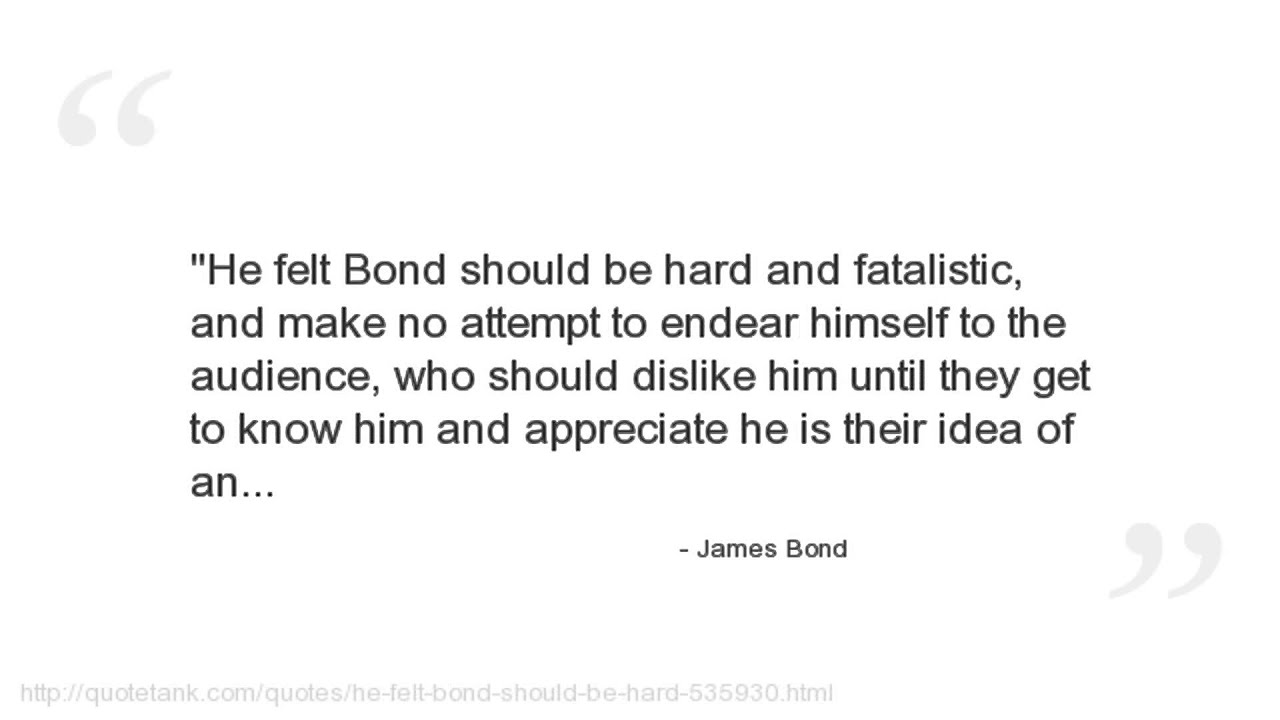 Bond Quotes James Bond Quotes  Youtube