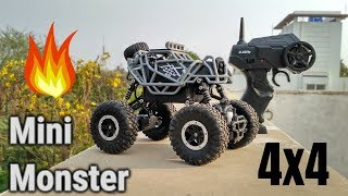 Rock Offroad Through 1:43 Scale 4WD RC Rally Car : Mini Monster Truck