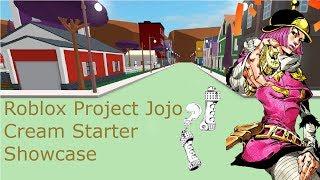 Roblox projeto Jojo Cream Starter Showcase