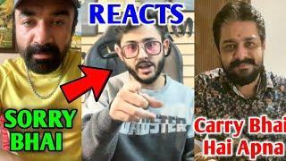 Ajaz Khan Says SORRY To CarryMinati! - His Reaction | Hindustani Bhau Support Carry Vs Ajaz Khan |