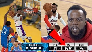 Clamping Up Westbrook In Game 2 of Playoffs! Lakers vs Thunder NBA 2K19 Ep 56