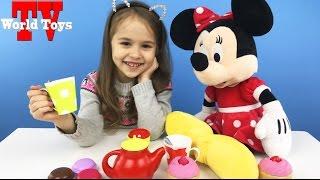 МИННИ МАУС и Арина на Пикнике Минни Маус из мультика Клуб Микки Маусa - Принцессы \ World Toys TV