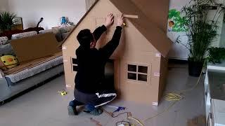 كيف تصنع بيت من الكرتون كبير جدا  للأطفال