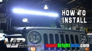 "50"" LED Light Bar Installed on a Jeep."