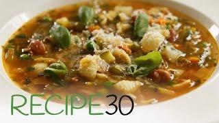 The best Italian Hearty Minestrone Soup