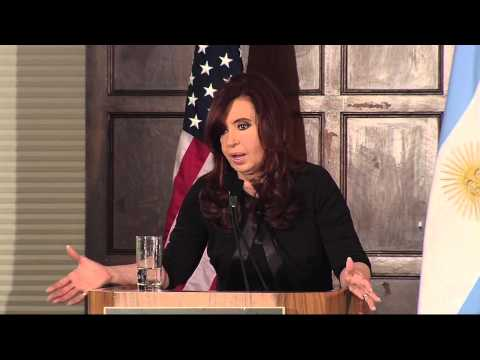 President Kirchner Opens New Lecture Series on Argentina (English Version)