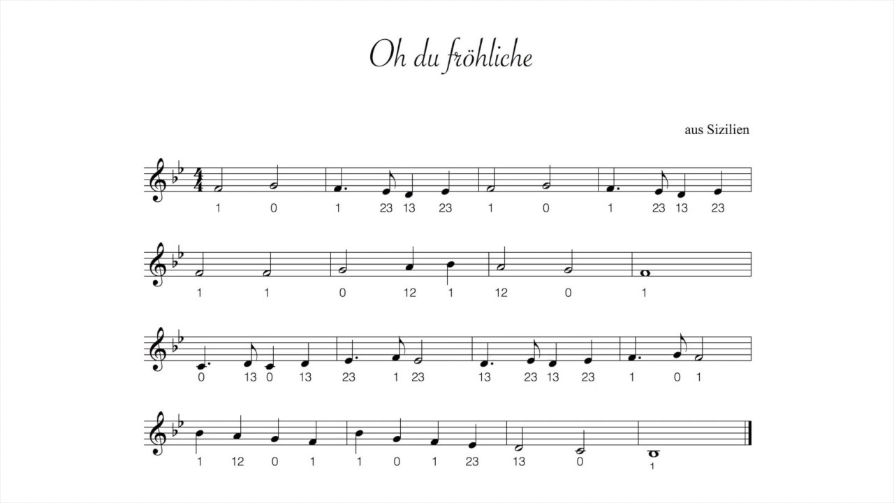 Oh Tannenbaum Flöte.Oh Du Fröhliche Trompete Zum Mitspielen Leicht