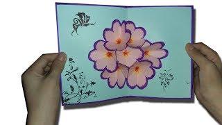 cách làm thiệp hoa 3D