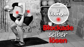 Blockaden lösen Brustwirbelsäule - BWS Syndrom - Übungen - Rückenschmerzen - Einrenken