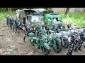 Military Transport Trucks Military motorcycle & Plastic Toy Soldier Army Men