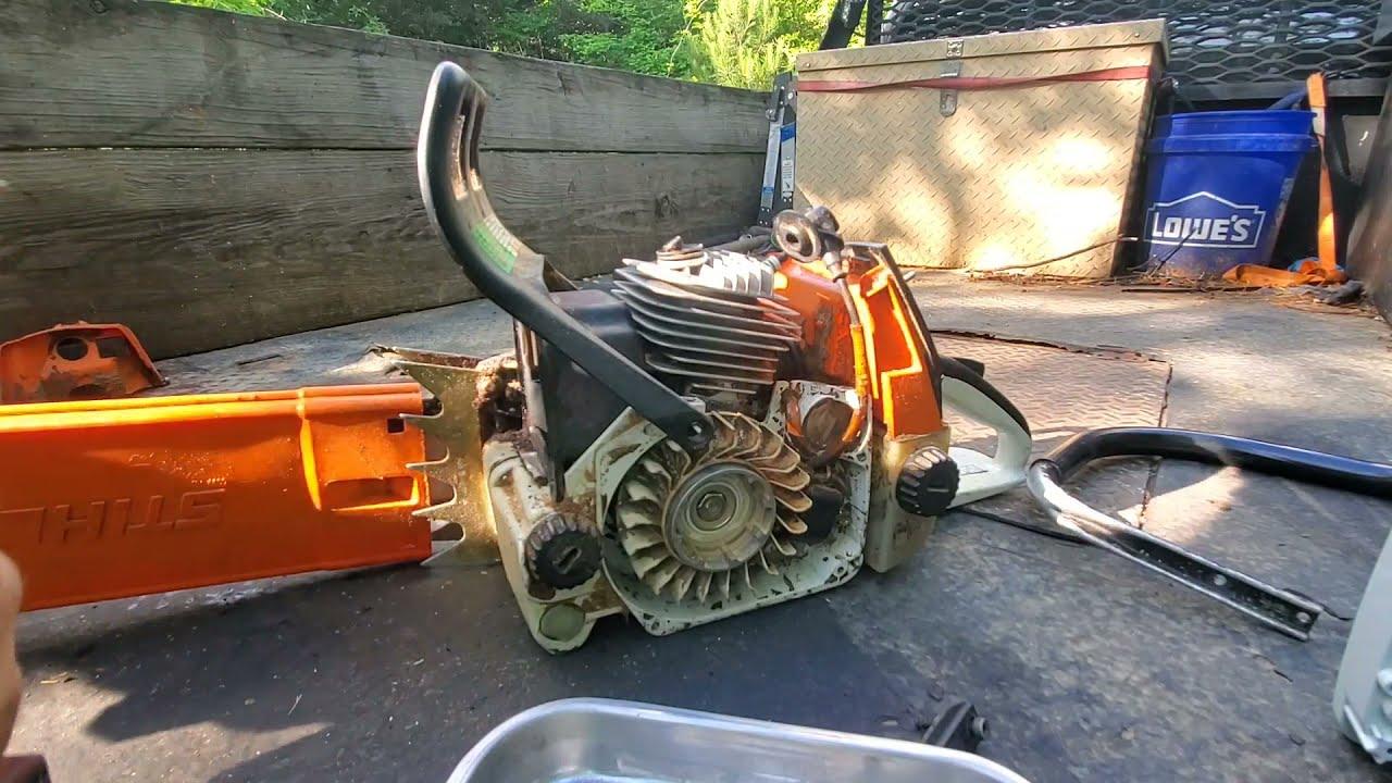 stihl 066 engine swap. that sucked