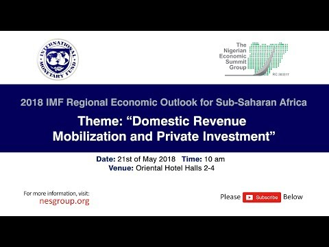 03 THE PUBLIC PRESENTATION OF 2018 IMF REGIONAL ECONOMIC OUTLOOK FOR SUB-SAHARAN AFRICA