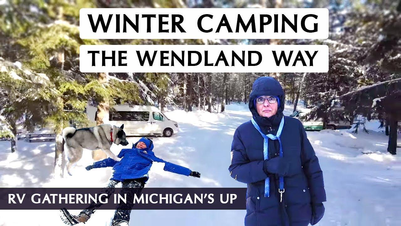 Winter Camping in Upper Michigan | Fun in the snow! - YouTube