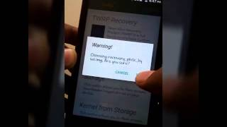 How to insatll Philz touch recovery for micromax canvas fire 4