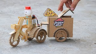 Wow! Amazing DIY Robot Pizza Delivery - Electric Bike 3 Wheels