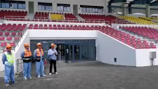 Le Stade omnisports de Malouzini (Comores) : 90% des travaux déjà réalisé