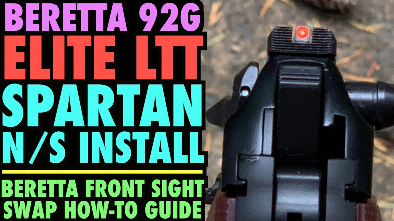 Beretta Elite LTT Spartan Night Sight Install   (How-To Install Beretta  Sights)