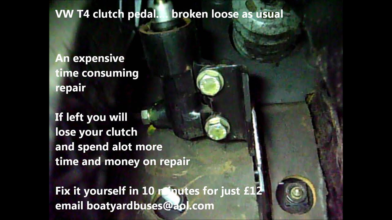 VW T4 clutch pedal broken as usual - YouTube