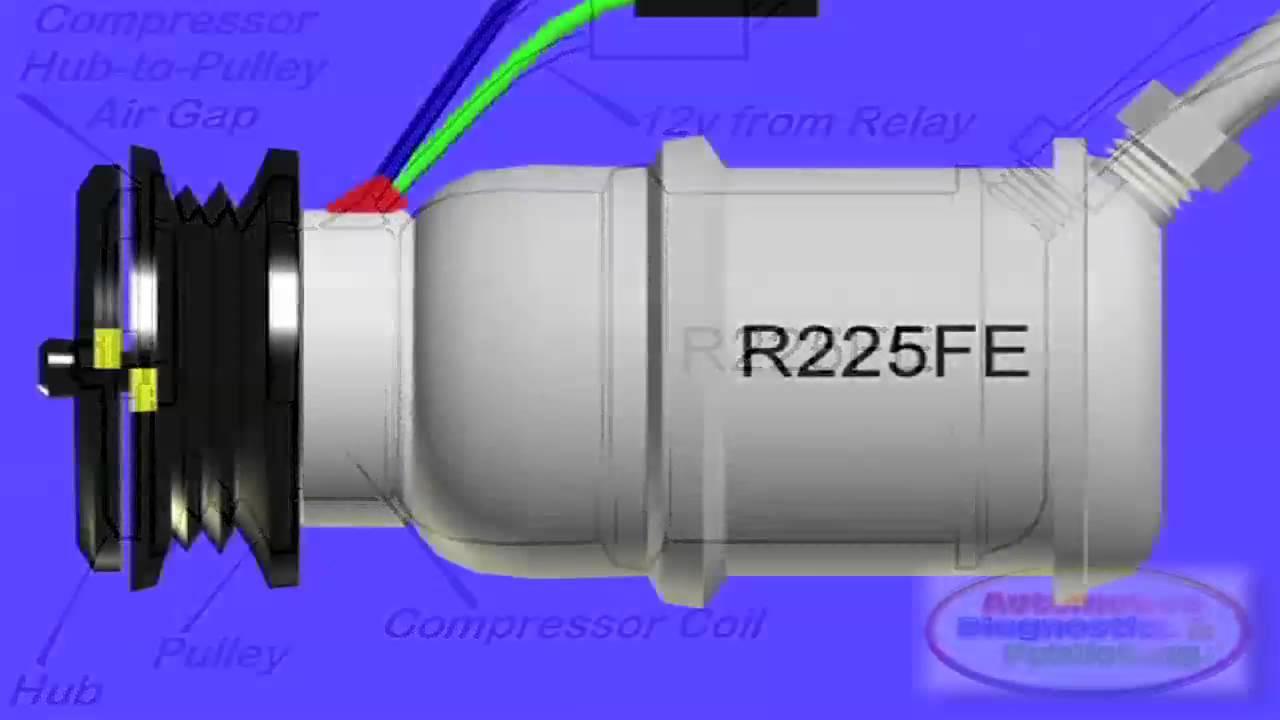 diagram of ac compressor clutch [ 1280 x 720 Pixel ]