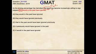 Daily Dose 76 | GMAT FREE QUESTIONS | MISSION MBA