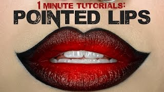 1 Minute Makeup Tutorial: Overdrawn Pointed Lips