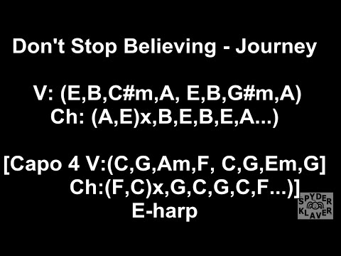 Don't Stop Believing - Journey - Lyrics - Chords