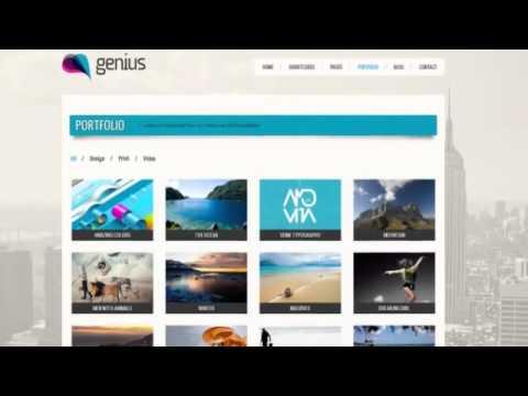 GENIUS - Responsive Wordpress Theme