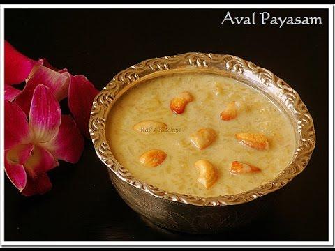 aval payasam recipe with jaggery