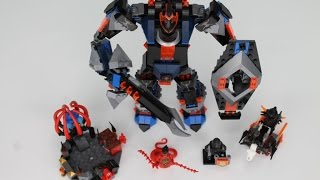 LEGO Nexo Knights Set 70326 The Black Knight Mech Speed Build Review