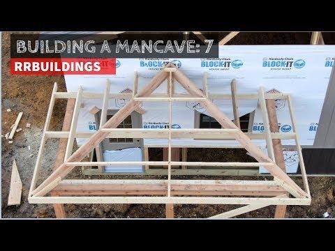Building a Mancave 7:  Framing a hipped porch