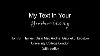 My Text in Your Handwriting