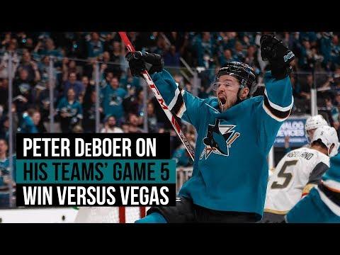 VIDEO: Sharks' DeBoer on Game 5 win over Vegas, Hertl's performance
