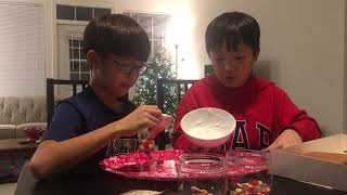 How to make trader joe's gingerbread house kit!!part 3