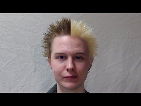 how to bleach short hair youtube