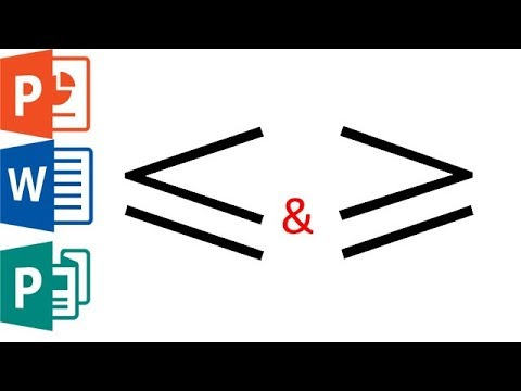 How To Type Greater Than Or Equal To In Ms Word Publisher Powerpoint Youtube