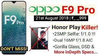 Oppo F9 Pro vs Honor Play -DON
