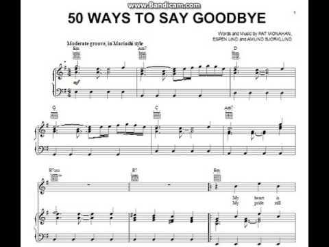 50 Ways To Say Goodbye Trumpet Sheet Music Youtube
