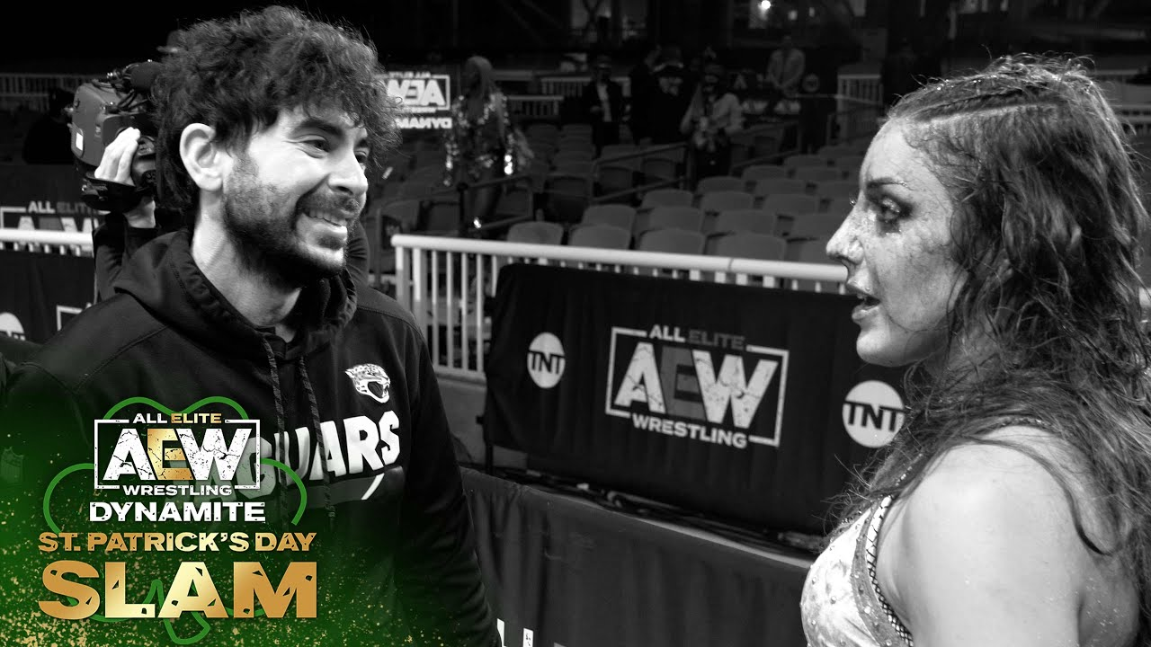 AEW EXCLUSIVE - Dr  Britt Baker and Thunder Rosa Post Match   AEW Dynamite, St  Patrick's Day Slam
