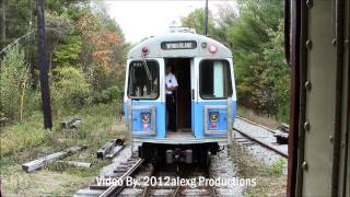 MBTA Blue Line running at Seashore Trolley Museum