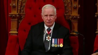 Throne Speech mentions security assault weapons legalizing and restricting marijuana