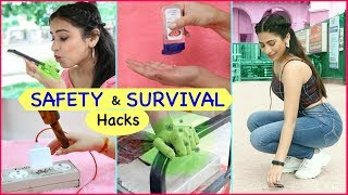 Life Saving SAFETY & SURVIVAL Hacks | Anaysa