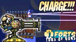 Ultimate Charged Laser Forts Multiplayer 4v4 Gameplay