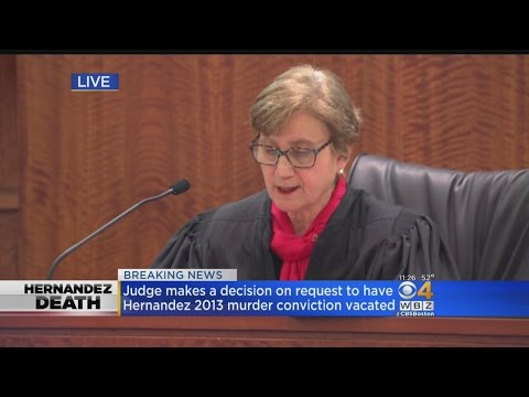 Judge Says She Has 'No Choice' But To Vacate Aaron Hernandez's Murder Conviction