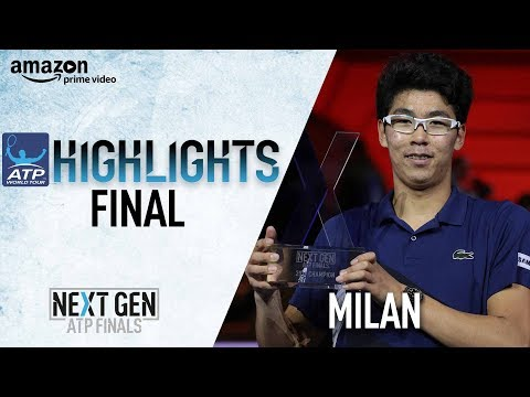 Highlights: Chung Beats Rublev For Inaugural Next Gen ATP Finals Title 2017