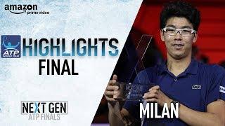 Highlights: Chung Beats Rublev For Inaugural Next Gen ATP Finals Title 2017 thumbnail