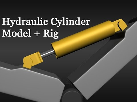 3D Tutorial #156 - Modeling and Rigging Hydraulic Cylinder - Part 2