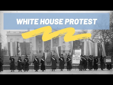 National Woman's Party Protests at the White House